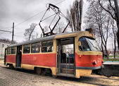 Vintage tram — Stock Photo