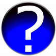 Question mark glass button — Stock Photo