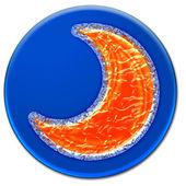Surrealistic moon icon — Stock Photo