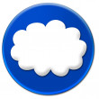Stock Photo: White cloud icon