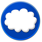 White cloud icon — Stock Photo