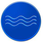 波のアイコン — ストック写真