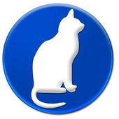Cat symbol icon — Stock Photo