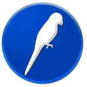 Parrot icon — Stock Photo