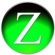 Letter Z icon — Stock Photo