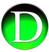 Letter D — Zdjęcie stockowe