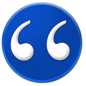 Quote mark button — Stock Photo