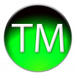 Trademark icon button — Stock Photo