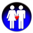 A man and a woman in love icon - Stock Photo
