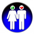 Man and woman icon - Stock Photo
