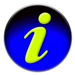 Yellow info icon — Stock Photo