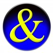 Ampersand AND button - Stock Photo