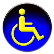 Handicap icon button - Stock Photo
