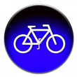 Blue bike icon — Stock Photo