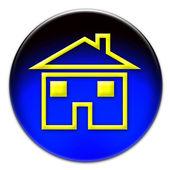 Yellow house icon — Stock Photo