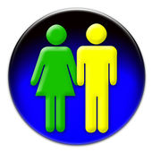 A man and a woman icon — Stock Photo