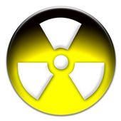 Radiation hazard symbol — Stock Photo