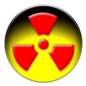 Radiation icon button — Stock Photo