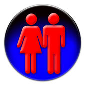 Man and woman icon — Stock Photo