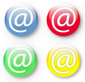 Email At icons in vector format set — Stock Vector