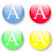 Letter A in the English alphabet - Stock Vector