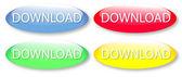 Botões de download vítreo — Vetor de Stock