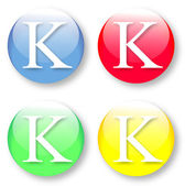 Letter K icon from the English alphabet — Stock Vector