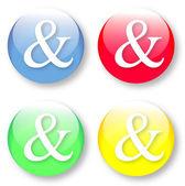 Set di segno di vettore e commerciale o e-simbolo — Vettoriale Stock
