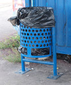 голубой корзины — Стоковое фото