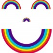 Stock Vector: Smiling Rainbow