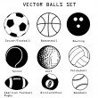 Sport balls illustration set — Stock Vector