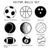 Sport balls illustration set — Stock Vector