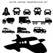 Stock Vector: Vector transportation illustration set