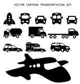 Vector transportation illustration set — Stock Vector