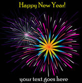 Happy New Year Fireworks — Stock Vector
