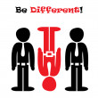 Be different! — Stock Vector