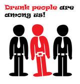 пьяных людей — Cтоковый вектор