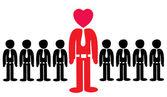 Saint Valentine's Day Greeting — Stock Vector