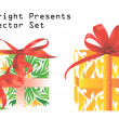 Stock Vector: Bright presents vector set