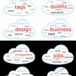 Tag cloud vector set — Stock Vector