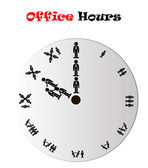 Office Hours Clock — Stock Vector