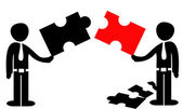 """Cooperation """"puzzle"""" concept — Stock Vector"""