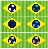 Brazil football vector icons — Stock Vector