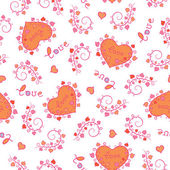 Valentine's Day Love & Hearts pattern — Stock Vector