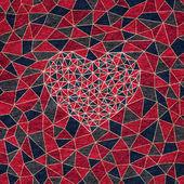 Sammet mattan textur med hjärta i mitten — Stockfoto