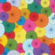 Vector seamless pattern with colorful umbrellas — Stock Vector