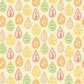 Colorful leaf seamless pattern — Wektor stockowy