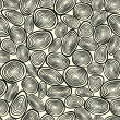 Seamless texture of abstract circles. Geometric background. — Vector de stock #13853386