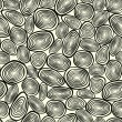 Seamless texture of abstract circles. Geometric background. — ストックベクター #13853386