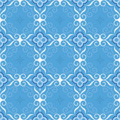 Winter seamless pattern on blue background. — Stock Vector